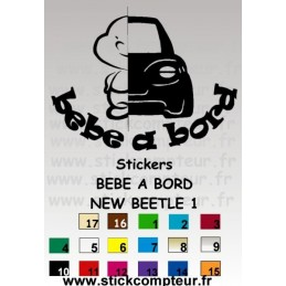 Stickers BEBE A BORD NEW BEETLE 1