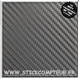 Film CARBONE 3D NOIR - StickCompteur création stickers personnalisés
