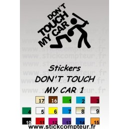 Stickers DON'T TOUCH MY CAR 1