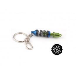 Porte-clés amortisseur  bleu et vert