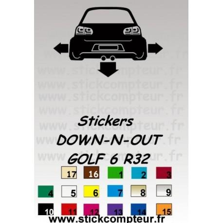 Stickers DOW-N-OUT GOLF 6 R32 - StickCompteur création stickers personnalisés