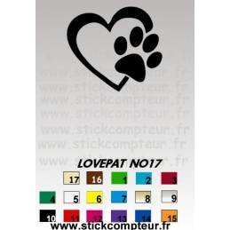 Stickers LOVEPAT NO17