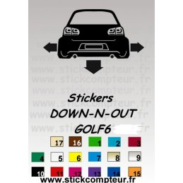 Stickers DOW-N-OUT GOLF 6