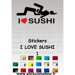 Stickers I LOVE SUSHI 1