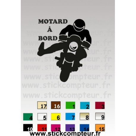 MOTARD A BORD JU18 - StickCompteur création stickers personnalisés