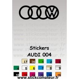 AUDI 004 Stickers * - StickCompteur création stickers personnalisés