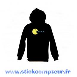SWEAT-SHIRT capuche PAC MAN - StickCompteur création stickers personnalisés