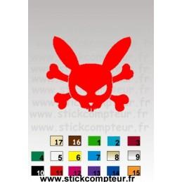 LAPIN DEAD 1018 - StickCompteur création stickers personnalisés