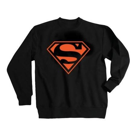 SWEAT-SHIRT sans capuche col rond SUPERMAN ROUGE - StickCompteur création stickers personnalisés
