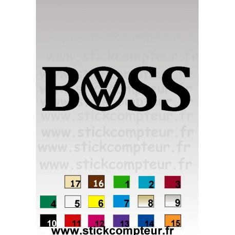 STICKERS BOSS VW