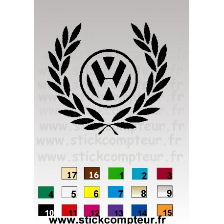 STICKERS COURONNE VW
