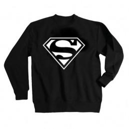 SWEAT-SHIRT sans capuche col rond SUPERMAN BLANC