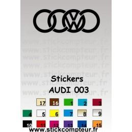AUDI 003 Stickers * - StickCompteur création stickers personnalisés