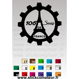 Stickers 106 et SAXO de france unie