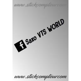 STICKERS SAXO VTS WORLD Facebook