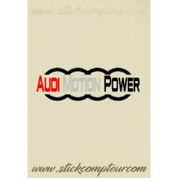 STICKERS AUDI MOTION POWER demi anneaux 3 couleurs - StickCompteur création stickers personnalisés