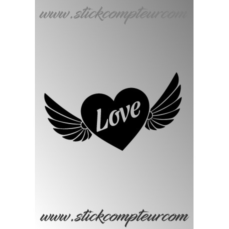 STICKERS COEUR LOVE