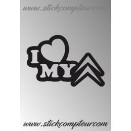 STICKERS I LOVE CITROEN 1 - StickCompteur création stickers personnalisés