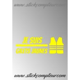 JE SUIS GILET JAUNE STICKERS - StickCompteur création stickers personnalisés