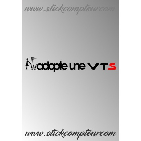 ADOPTE UN VTS STICKERS