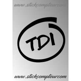 TDI INSIDE STICKERS