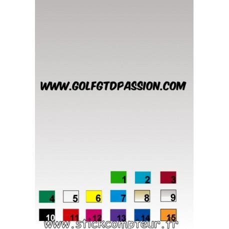 Autocollant GOLF GTD PASSION 6 - StickCompteur création stickers personnalisés
