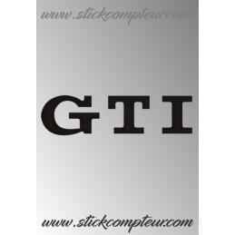LOGO GTI VW STICKERS