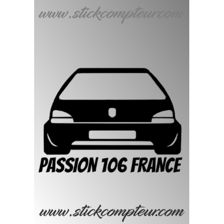 PASSION 106 FRANCE GAUCHE UNIE STICKERS