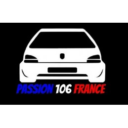 PASSION 106 FRANCE 3 COULEURS STICKERS - 1