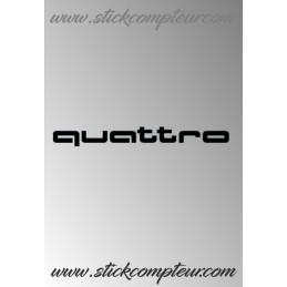 QUATTRO 1 STICKERS