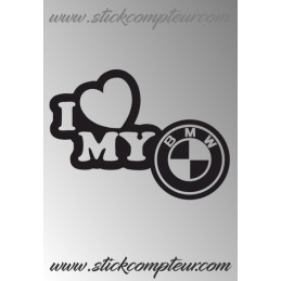 I LOVE BMW STICKERS - StickCompteur création stickers personnalisés