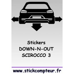 1 stickers Down-n-out SCIROCCO 3