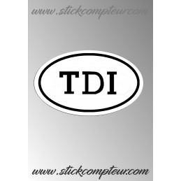 EMBLEME TDI VW Stickers*