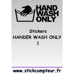 Stickers HANDER WASH ONLY 1