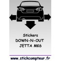 1 stickers Down-n-out JETTA MK6