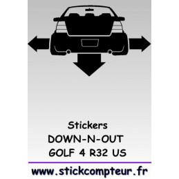 Stickers DOW-N-OUT GOLF 4 R32 US