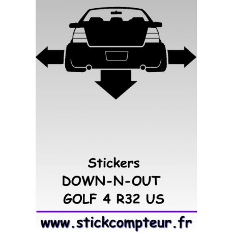Stickers DOW-N-OUT GOLF 4 R32 US - 1