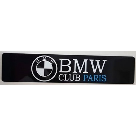 BMW CLUB PARIS Plaque Immatriculation