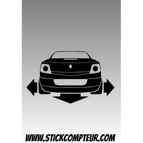 RENAULT MEGANE 2 CC DOWN & OUT   Stickers