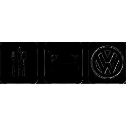 EAT SLEEP VW STICKERS