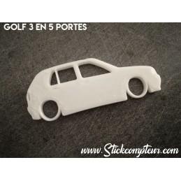 Porte clés 3D GOLF 3  SILHOUETTE*