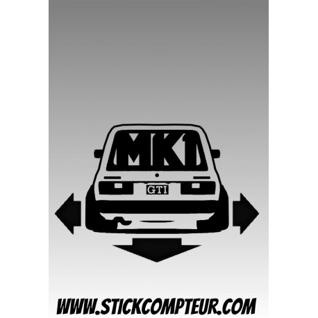 DOWN & OUT GOLF MK1 GTI 1904 Stickers