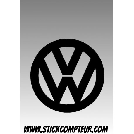 VW 2 VOLKSWAGEN LOGO STICKERS