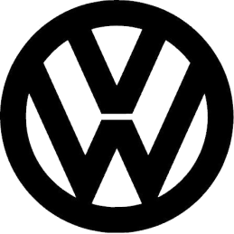 VW 2 VOLKSWAGEN LOGO STICKERS*