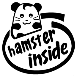 HAMSTER INSIDE 19 STICKERS