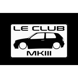 le club MK3 SILHOUETTE Stickers
