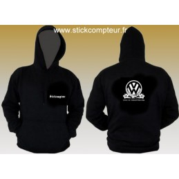 SWEAT A CAPUCHE NOIR VW CONNECTION