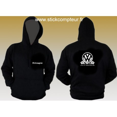 SWEAT A CAPUCHE NOIR VW CONNECTION - 1