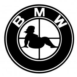 BMW STICKERS BIG BIG LOGO 1* - StickCompteur création stickers personnalisés