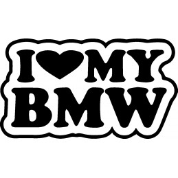 BMW STICKERS I LOVE BMW 1 * - StickCompteur création stickers personnalisés